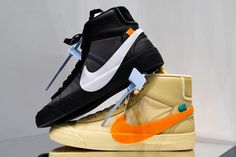 newest a55a3 9251c Off-White x Nike Blazer Spooky Pack Sneakers Shoes Trainers Kicks Footwear  Cop Purchase Buy Release Date Details The Ten Virgil Abloh Halloween Orange  Black
