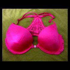 "NWOT ""VS""LOVE PINK BRA34CUNDERWIRE/PAD FINALSUPER CUTEBEAUTIFUL DESIGN IN BACKNO FLAWS TO REPORT PRICE FIRM Victoria's Secret Swim Bikinis"