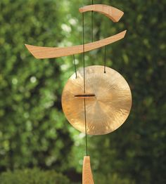 """Emperor Gong - VivaTerra. Created by professional musician and instrument designer Garry Kvistad, the Emperor Gong is handcrafted and weather protected to ensure years of enjoyment. It resonates with a beautifully rich, deep shimmering sound. 37""""L x 14""""W"""