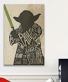 Look what I found on #zulily! Yoda Gallery Wrapped Canvas by Star Wars #zulilyfinds