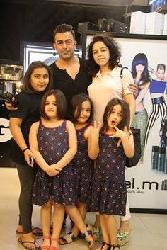 Spotted: Pakistani icon and superstar Shaan Shahid with his family at our MM Alam Road salon
