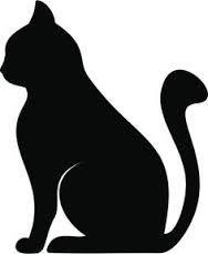 Výsledek obrázku pro siluetas de gato cazando raton