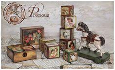DECOUPAGE-Cubos decorados - Rut Vigo - Álbumes web de Picasa