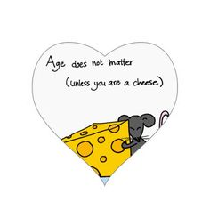 #Cheese Heart Stickers #birthday #age