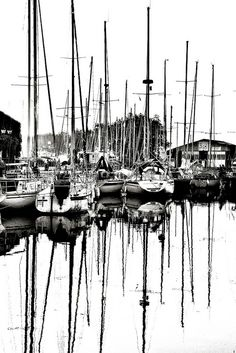 out on the docks.