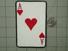Whether you want an Ace of Hearts, or a Jack of Diamonds-- these patches are for you! These face cards and Ace are fully embroidered iron on patches measuring 3 x 4.5.  This patch is fully iron on with no sewing required, although it is advised that patch be sewn on frequently laundered items.  Use to personalize your jacket, backpack, messenger bag, or just about anything you can imagine.  Please note these colors will not fade, peel or crack over the lifetime of the patch, fully machine…
