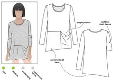 Pearl Knit Top Sewing Pattern By Style Arc