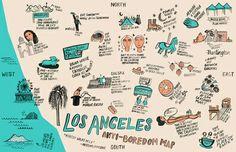 Kathryn McFarlane Los Angeles Anti-Boredom Map Art Print, $30, $5 off/free shipping