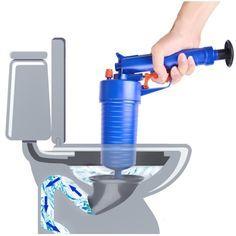 New High Pressure Powerful Manual Sink Plunger Home Air Drain Blaster Pump/Gun/Cleaner/Opener Plastic Unclog Toilet Plunger Placesure Online Mall Unclog Sink, Drain Pipes, Clogged Pipes, Clogged Drains, Small Sink, Bathtub Drain, Floor Drains, Drain Cleaner, Compressed Air