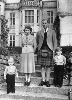 Anne pictured with her mother, father and older brother outside Balmoral Castle in 1952© 2001-2013, HELLO! - All rights reservedHELLO! homepage, The place for daily celebrity, fashion and beauty news