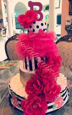 Kate Spade Diaper Cake
