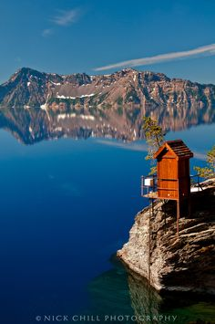 """Oregon: """"The Edge of Paradise"""" by Nick Chill - Crater Lake National Park - #scenic #reflection (""""1,000 Places to See Before You Die/ A Traveler's Life List"""" by Patricia Schultz)"""