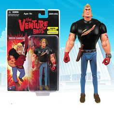 Brock Samson is a little bit of secret agent mixed with the title of babysitter. He's all man though, that's for sure. This is a Brock Samson Comic Con exclusive action figure. Brock Samson is in his