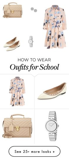 """167 outfit"" by julieannbb13 on Polyvore featuring Valentino, Gucci, Karen Kane and Yves Saint Laurent"