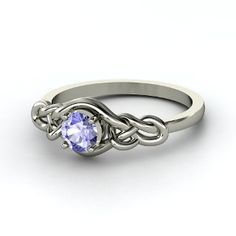 Sailor's knot #ring with #tanzanite