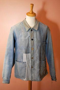 1940s french chore jacket