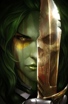 Gamora #1 cover by Francesco Mattina