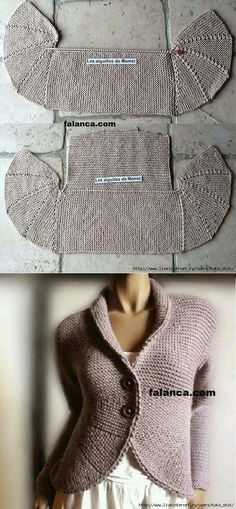 Knitting by spokes – the Jacket with shelves partial knitting – Baby knitting patterns Knitting Socks, Knitting Stitches, Baby Knitting, Cardigan Pattern, Jacket Pattern, Knitting Machine Patterns, Knitting Patterns, Knitted Coat, Knit Jacket