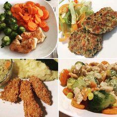 Variations : a piece of turkey breast can provide for many easy/healthy meals #mycookingstyle #zerowastecooking #veggies #salad #brusselsprouts #carrots #mashedpotato #patties #dinner #lunch #easy #fast #recipe #healthy #fitfood #mutimiteszel #mutimiteszel_fitt #brokkoli