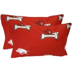 Arkansas Razorbacks Spirit Pillowcase