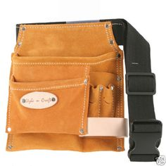 Style n Craft  91488 - 5 Pkt Carpenter's Tool Belt in Heavy Duty Suede Leather #StylenCraft #ToolBelts