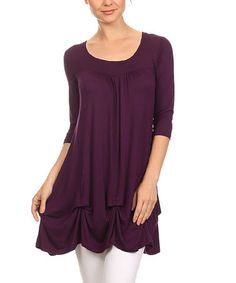Another great find on #zulily! Plum Gathered Tunic - Plus #zulilyfinds