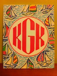monogram patterned canvas panel by KinziesCrafts on Etsy Diy Canvas, Canvas Art, Monogram Canvas, Circle Monogram, Monogram Design, Canvas Ideas, Canvas Paintings, Cabana, Do It Yourself Inspiration