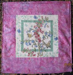 Counted cross-stitch cushion