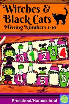 These Witches Preschool Halloween, Halloween Witches, Halloween Activities, Number Activities, Math Resources, Numbers Preschool, Preschool Math, Maths
