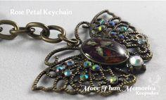 Rose Petal Keepsake Keychain http://abanister1.wixsite.com/morethanmemories