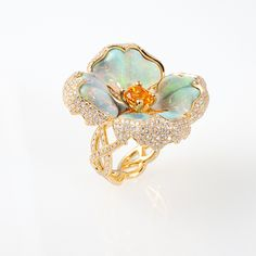 Madam Butterfly Flower Ring Katherine Jetter