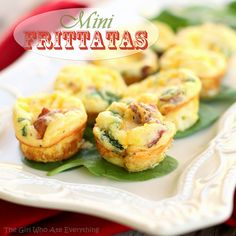 Mini Egg Frittatas - put whatever meat and toppings you want in them. www.the-girl-who-ate-everything.com #recipe #breakfast