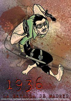 """#COMIC #ILUSTRACION #HISTORIA #CROWDFUNDEADO #CROWDFUNDING """"1936, la Batalla de Madrid"""" es un cómic que reinterpreta la historia de la Guerra Civil con la participación de seres superpoderosos, magos, mutantes y otros seres mitológicos. Hechos reales contados como nunca en una original mezcla entre cómic de superhéroes y género histórico. Recompensa: ilustración de Saeta de Jordy Usón. http://www.verkami.com/projects/8367-1936-la-batalla-de-madrid Crowdfunding verkami"""
