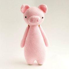 Mesmerizing Crochet an Amigurumi Rabbit Ideas. Lovely Crochet an Amigurumi Rabbit Ideas. Crochet Pig, Giraffe Crochet, Crochet Hook Set, Crochet Patterns Amigurumi, Amigurumi Doll, Diy Crochet, Crochet Dolls, Owl Backpack, Easy Crochet Projects