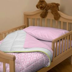 Candy Pink Damask Toddler Bedding | Toddler Bedding in Pink | Carousel Designs