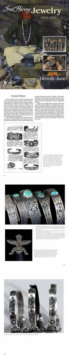 Price Guides and Publications 171122: Fred Harvey Silver And Turquoise Vintage Indian Jewelry Collector Guide 1900-1955 -> BUY IT NOW ONLY: $35.99 on eBay!