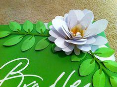 3-D Flower using Cricut Art Philosophy cartridge