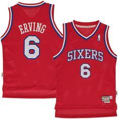 0db58ccb7000 Julius Erving Philadelphia 76ers Youth Fashion Hardwood Classics Swingman  Jersey - Red Basketball Jersey
