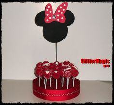 Minnie Mouse Red Polka Dots  Cakepop / Lollipop by GlitterMagic23s, $25.75