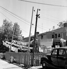 Alleyway and backyard, Decarie Blvd 1961 Jacques Cartier, Old Montreal, Canada, Alleyway, The Province, Quebec, Past, Backdrops, Archive