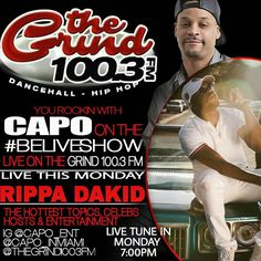 05/01-- Catch me LIVE on MIAMI's NEWEST WAVE!! @thegrind1003fm w/ the homie @capo_ent @capo_inmiami on the #BELIVESHOW 6pm-8pm EST!! |  Tune in FOR radio shows new music educational discussions celebrity interview #89til #builtforthis #rippadakid #kingcinesound #betterthanmylast #faynmusic #getcloser #jaemazor  #danchall #models #turnt  #nochill  #hot #hiphop #fmradio #djs  #radio #liveonair #miami  #florida