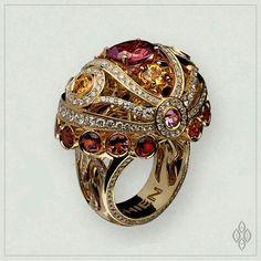 @IchienJewellery ring w/tourmalines and sapphires