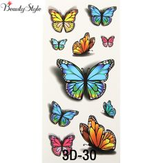 Find More Temporary Tattoos Information about 10x Inspire Colorful 3D Sticker On Body Art Chest Shoulder Stickers Glitter Temporary Tattoos Removal Fake Butterfly Style Tatoo,High Quality stickers bar,China stickers dimensions Suppliers, Cheap stickers poker from Super Wall-Mart A+ Co., Ltd on Aliexpress.com