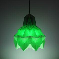 Luminária Pendente Hope – Maça verde - Dobrarte Origami
