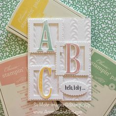 Baby girl cards stampin up embossing folder best Ideas Baby Girl Cards, New Baby Cards, Pretty Cards, Cute Cards, Greeting Cards Handmade, Baby Shower Cards Handmade, Up Girl, Kids Cards, Creative Cards