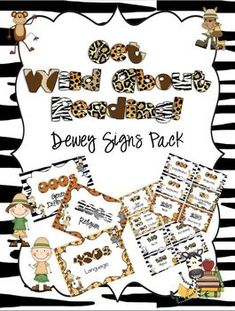Get Wild About Reading Dewey Signs Pack $ on TpT