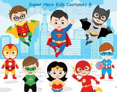 50% OFF SALE Clipart Superhero Digital Clipart by Alefclipart