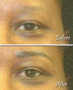 Instantly changed and ready to party! Beautiful eyebrows make such a difference.