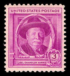 """*JOEL CHANDLER HARRIS ISSUE: wrote the Uncle Remus stories; two years before this 1948 issue, the Walt Disney Company produced a film based on Harris' work called """"Song of the South. Office Stamps, Uncle Remus, Legend Stories, Song Of The South, Old Stamps, Stamp Collecting, Postage Stamps, Illustrator, Literature"""