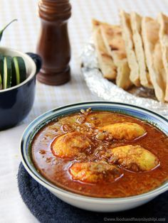 Egg curry recipe video: Egg Curry,Anda Curry, Punjabi dhaba style Egg Curry recipe is one of the most favorite dishes for an eggetarian. Fried Fish Recipes, Veg Recipes, Spicy Recipes, Curry Recipes, Indian Food Recipes, Asian Recipes, Chicken Recipes, Cooking Recipes, Ethnic Recipes